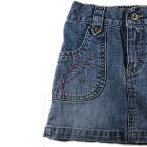 OskKosh Embroidered Denim Mini Skirt